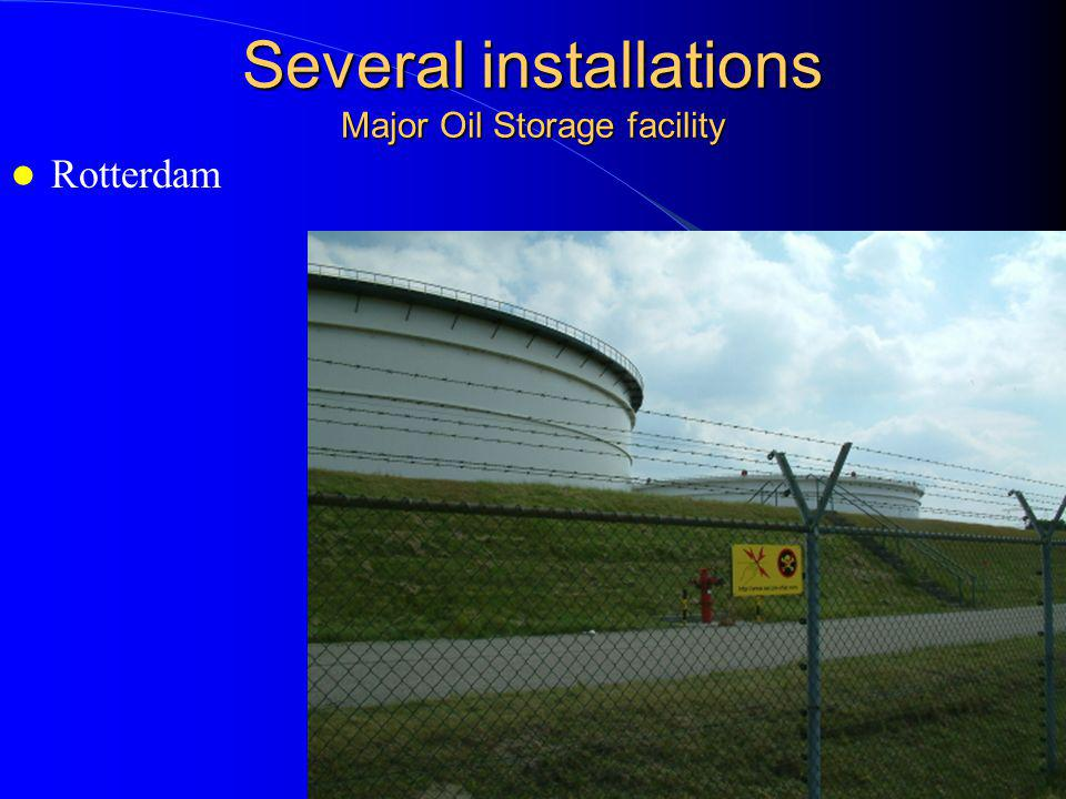 Several installations Major Oil Storage facility Rotterdam