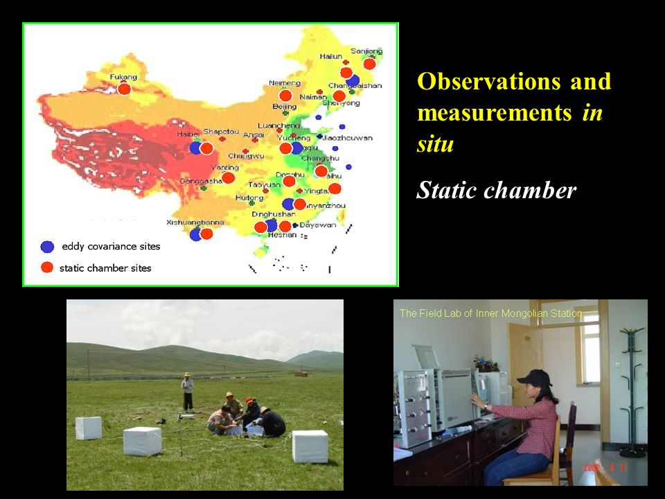 Observations and measurements in situ Static chamber