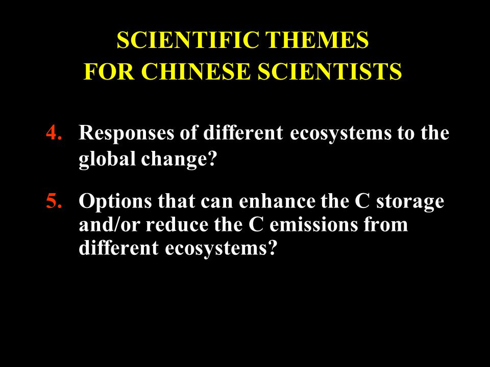 4.Responses of different ecosystems to the global change.
