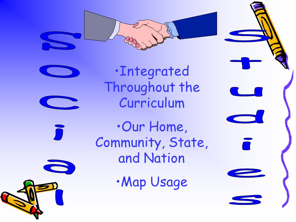 Integrated Throughout the Curriculum Our Home, Community, State, and Nation Map Usage