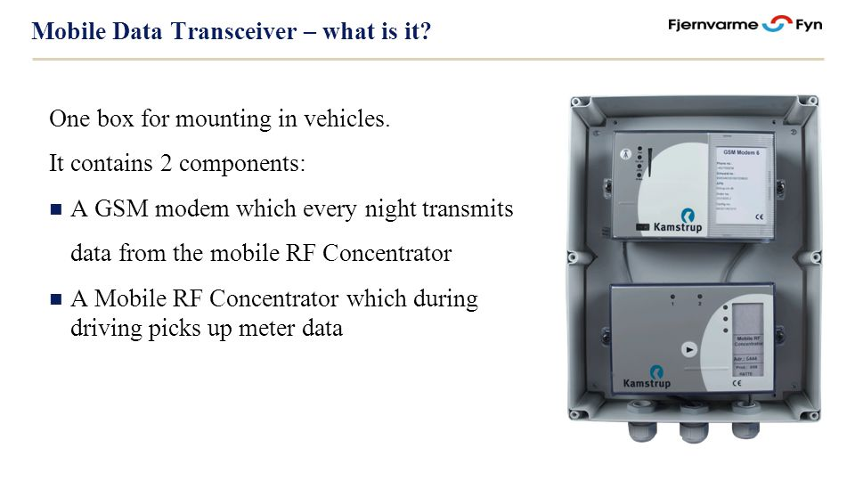 Mobile Data Transceiver – what is it. One box for mounting in vehicles.