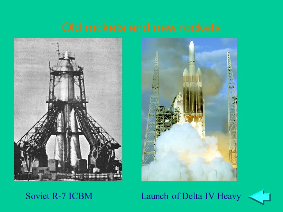 Old rockets and new rockets Launch of Delta IV HeavySoviet R-7 ICBM