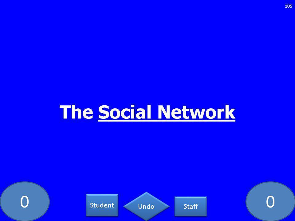 00 The Social Network 105 Student Staff Undo