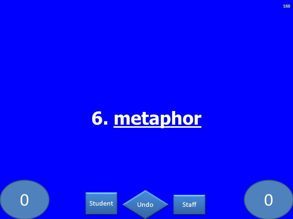 00 6. metaphor 188 Student Staff Undo