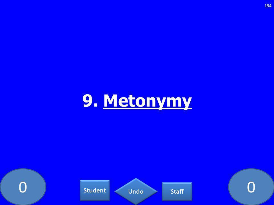 00 9. Metonymy 194 Student Staff Undo