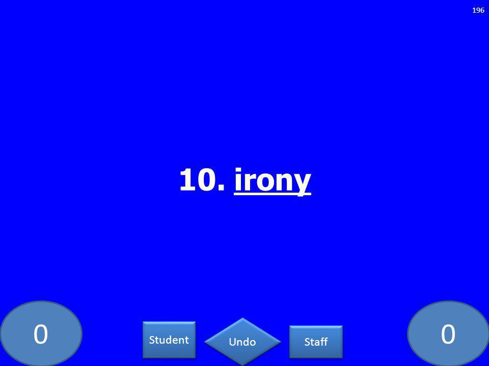 00 10. irony 196 Student Staff Undo