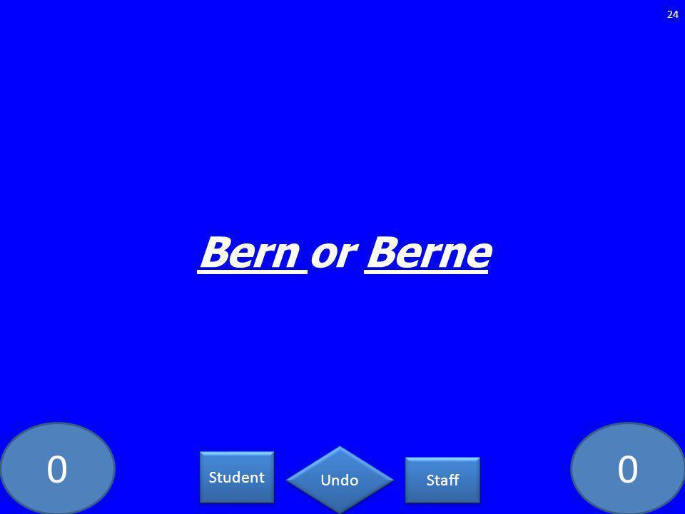 00 Bern or Berne 24 Student Staff Undo