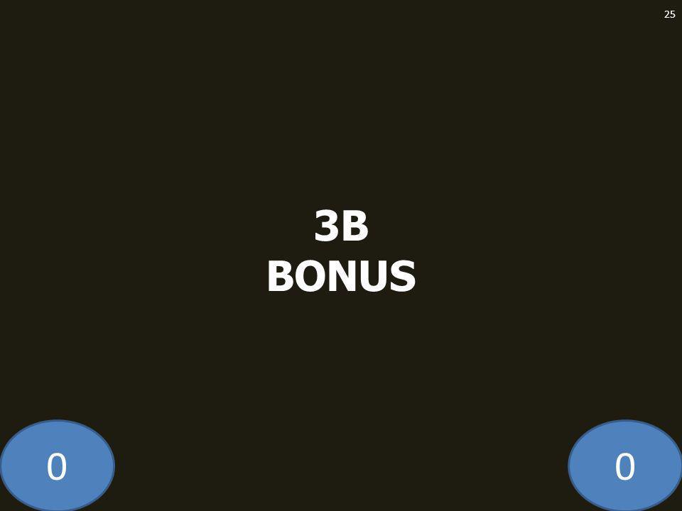 00 3B BONUS 25