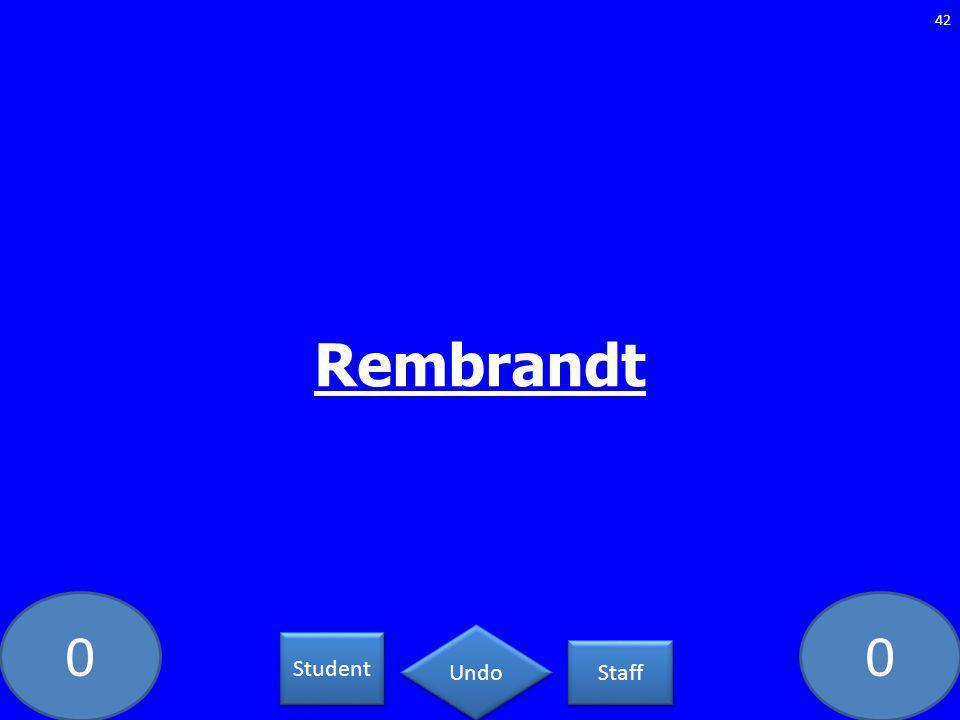 00 Rembrandt 42 Student Staff Undo