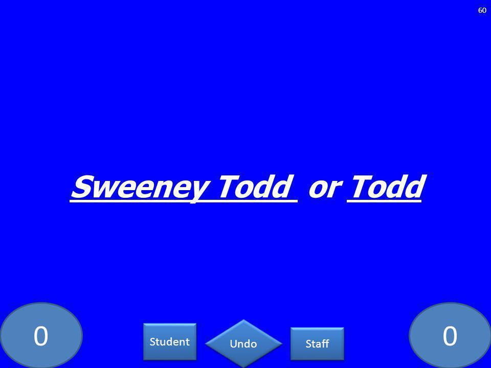 00 Sweeney Todd or Todd 60 Student Staff Undo