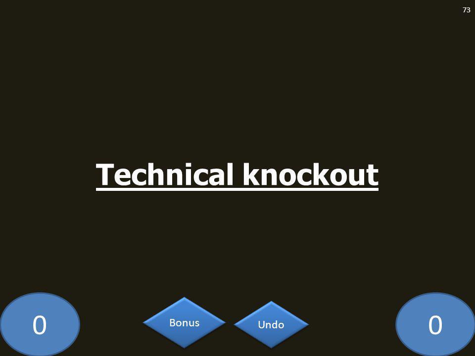 00 Technical knockout 73 Undo Bonus