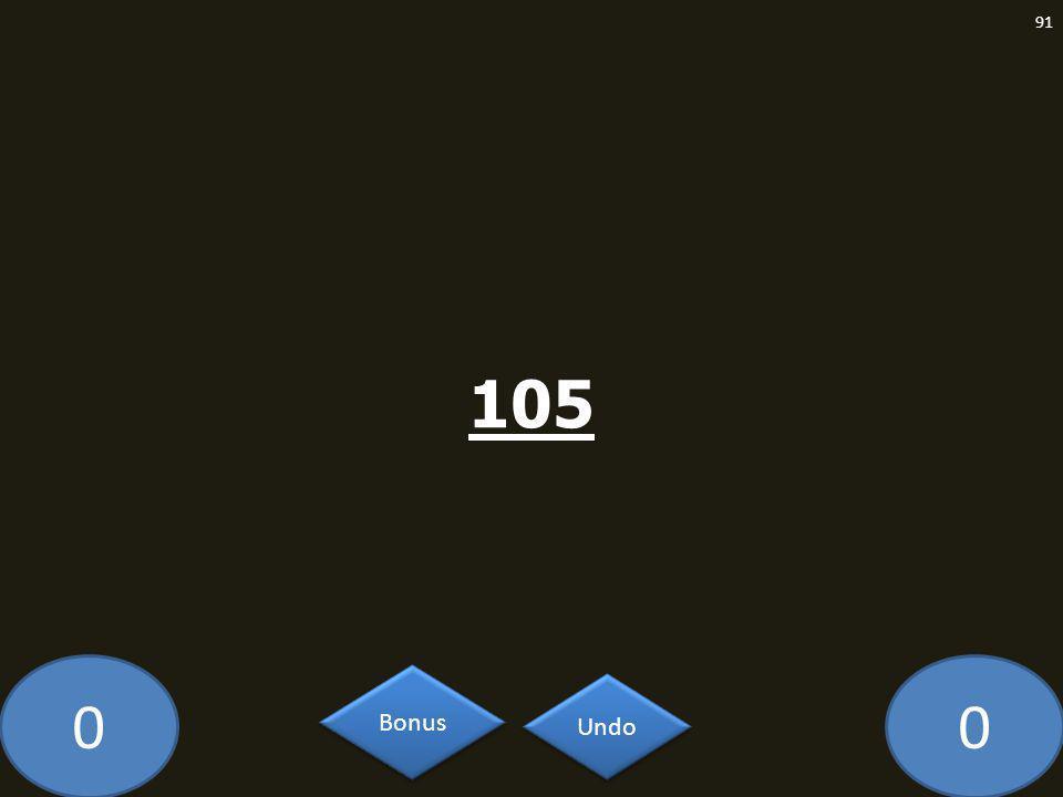 00 105 91 Undo Bonus