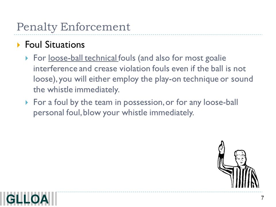 8 Penalty Decision Tree Personal Fouls YesNo Personal Foul Loose Ball.