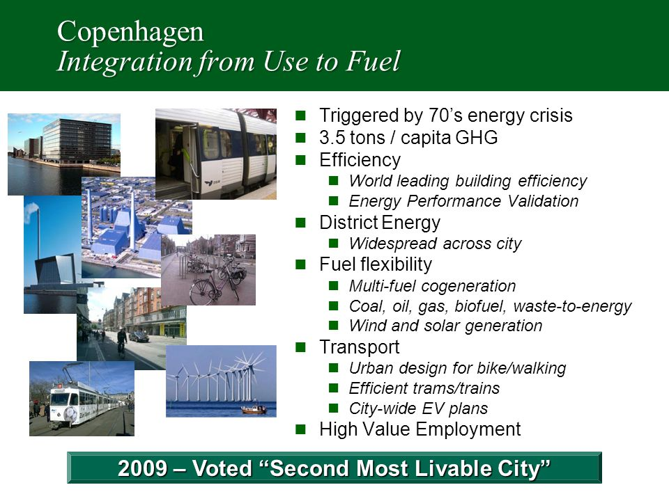 Copenhagen Results Decouple Growth from Energy Use Systematic Energy Integration Works Source: LSE Cities Study - 2012