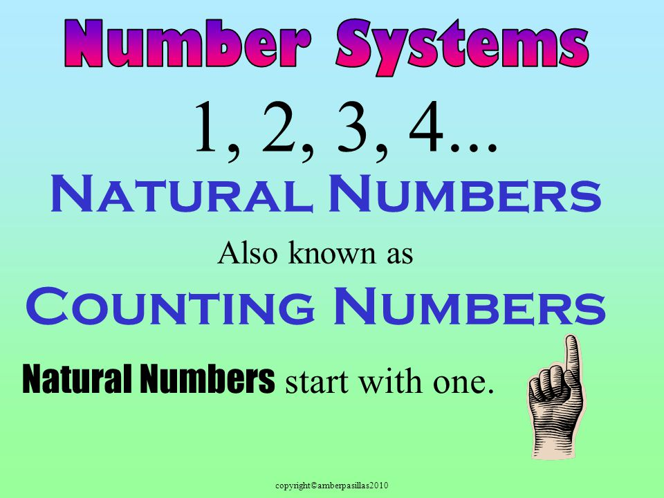 copyright©amberpasillas2010 Natural Numbers 1, 2, 3, 4...