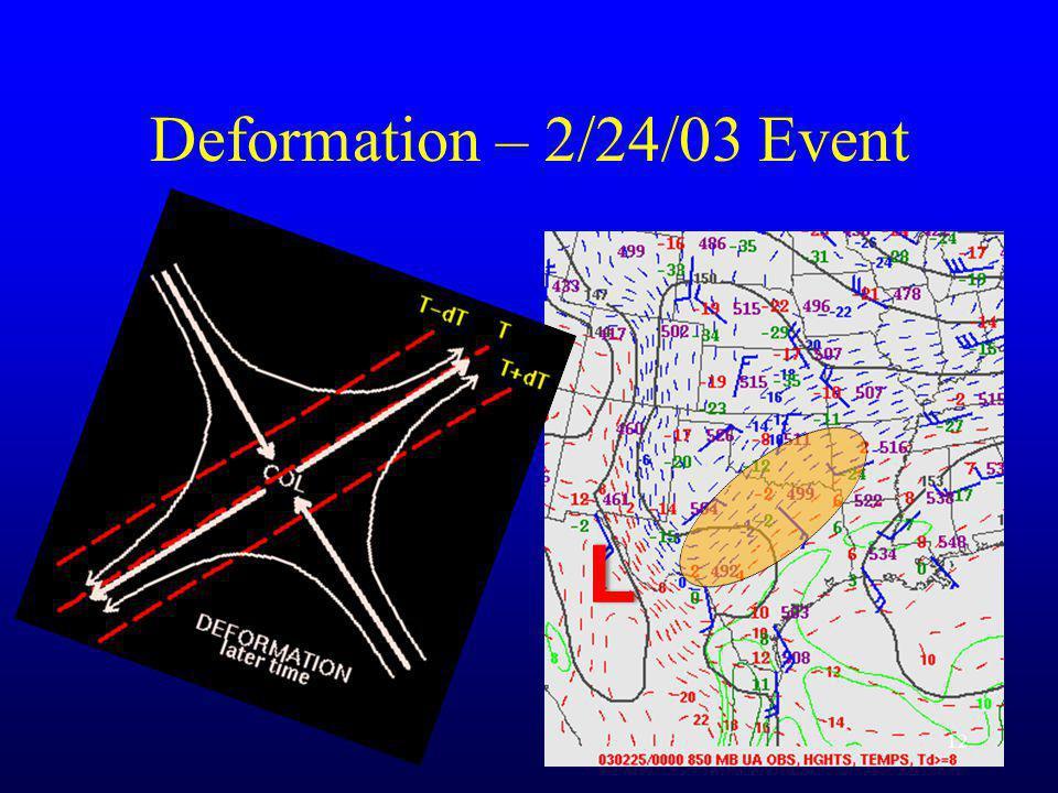 Deformation – 2/24/03 Event 12