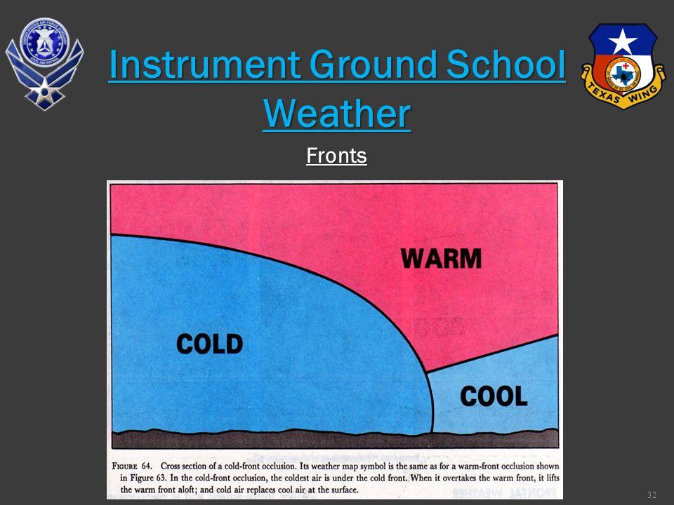 32 Fronts Instrument Ground School Weather