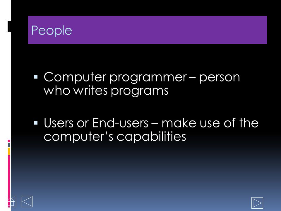 Computer System People Software Hardware