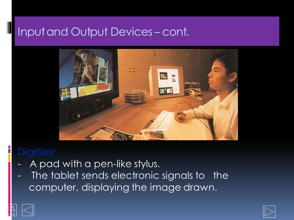Input and Output Devices 1.Input devices - Common type of devices used are the keyboard and the mouse - Standard type of keyboard is the QWERTY which