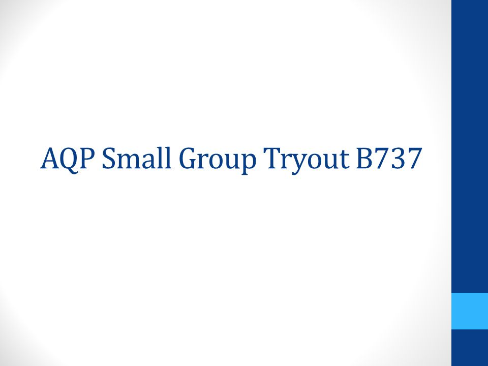 AQP Small Group Tryout B737