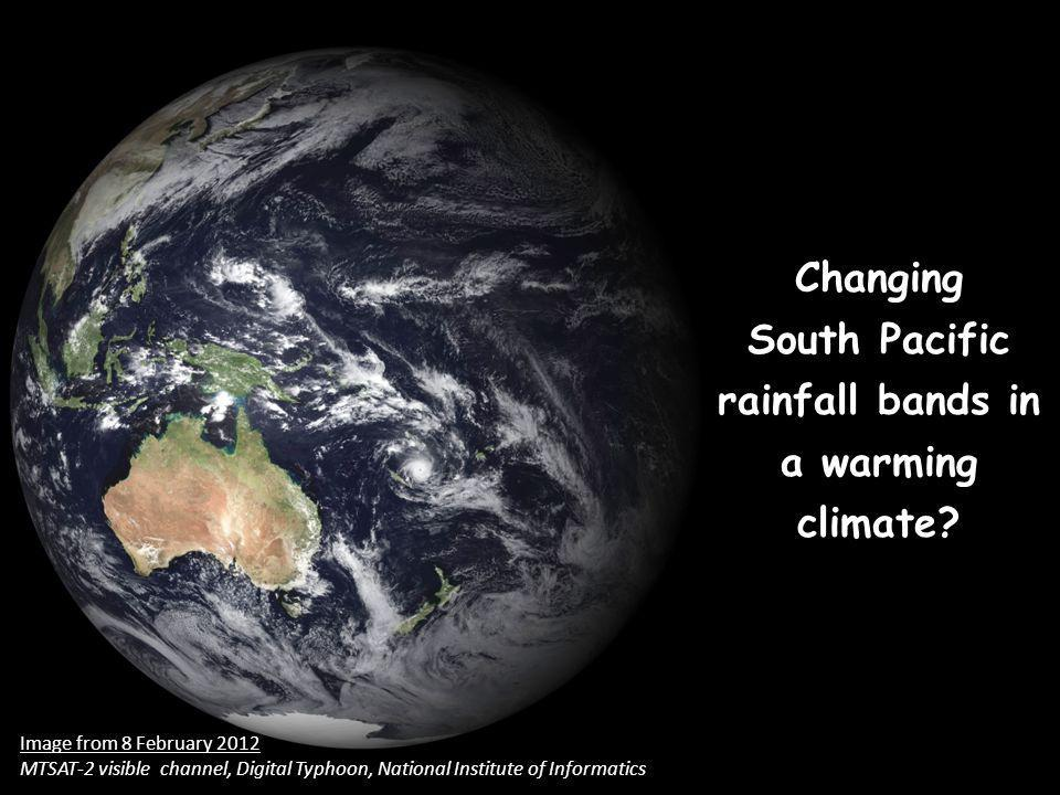 Changing South Pacific rainfall bands in a warming climate.