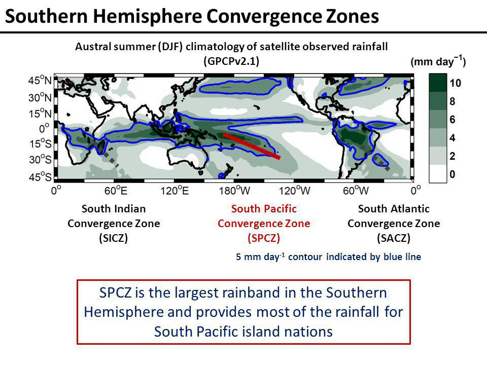 2) Increased frequency of zonal SPCZ events Increased number of zonal SPCZ events Flux adjusted perturbed physics experiments with HadCM3 model (12 out of 17 experiments considered) 1 2 Greenhouse warming is likely to cause: 1)More summers with small meridional SST gradients Pacific island communities experience extreme weather –droughts, floods, & tropical cyclones– during zonal SPCZ events
