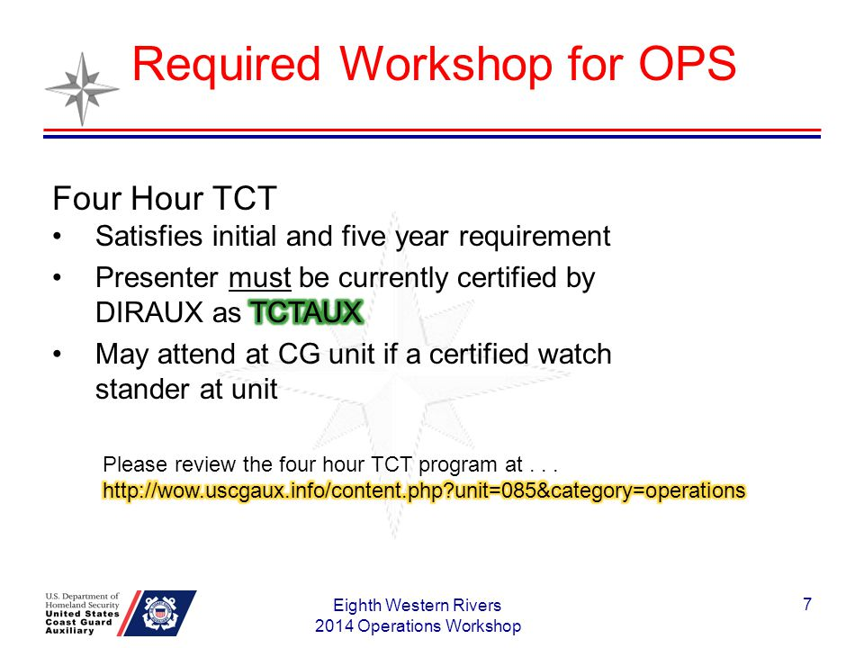 Requesting Patrol Orders Eighth Western Rivers 2014 Operations Workshop 8