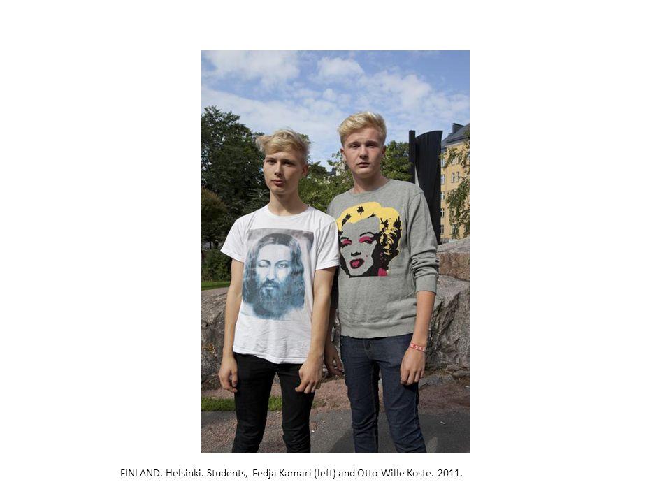 FINLAND. Helsinki. Students, Fedja Kamari (left) and Otto-Wille Koste. 2011.