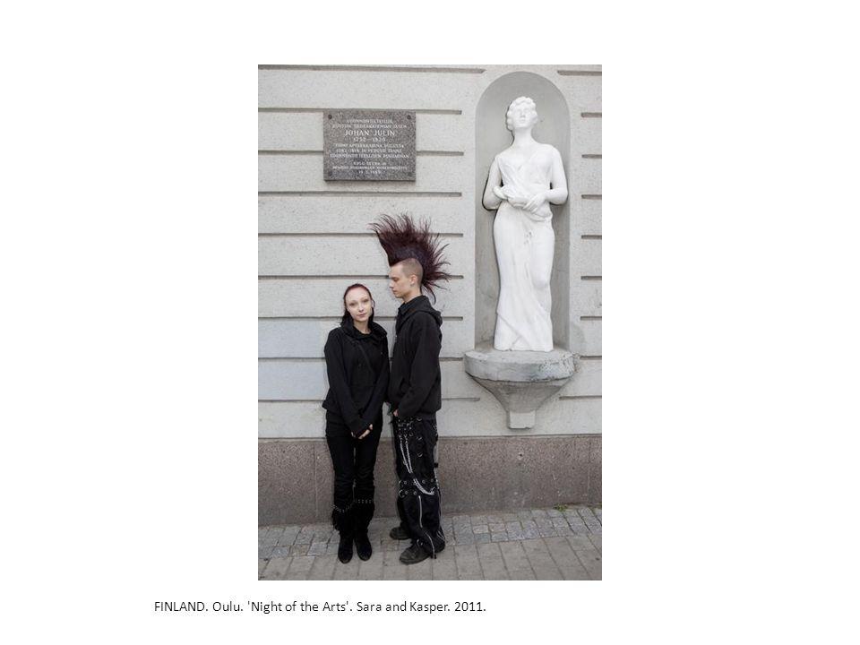 FINLAND. Oulu. 'Night of the Arts'. Sara and Kasper. 2011.