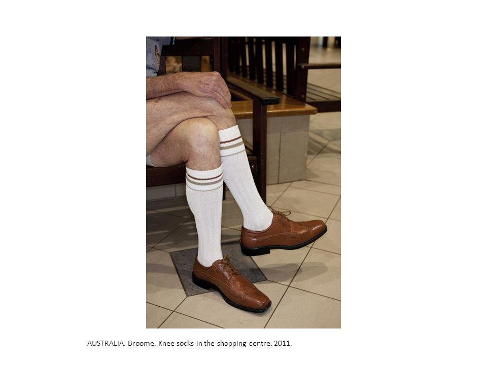 AUSTRALIA. Broome. Knee socks in the shopping centre. 2011.