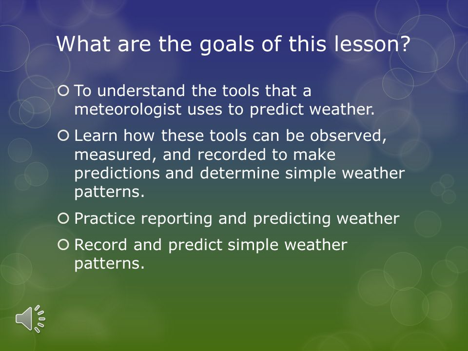 How Do We Predict The Weather.