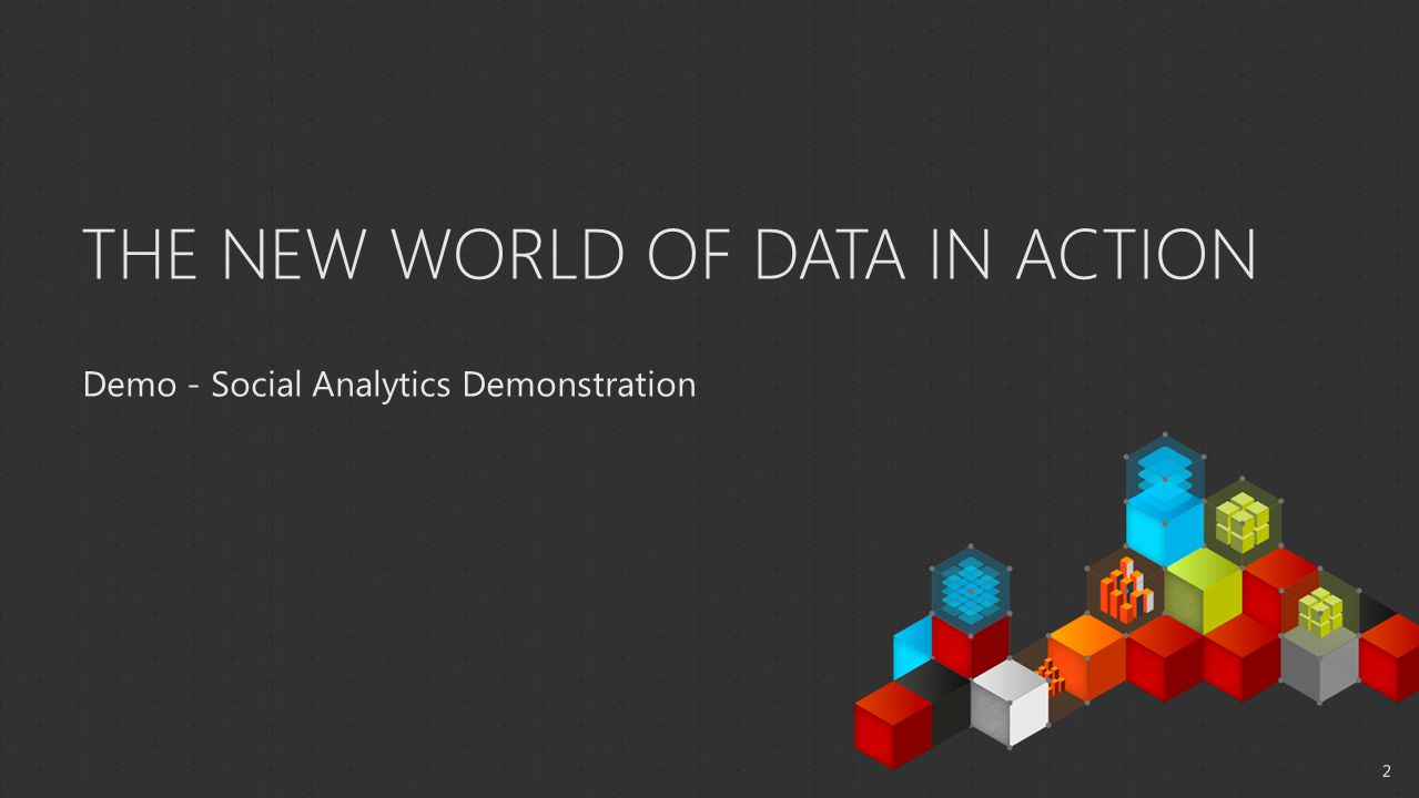 THE NEW WORLD OF DATA IN ACTION Demo - Social Analytics Demonstration 2