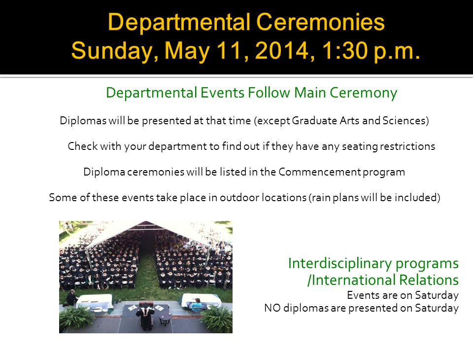 Each year a graduating student is selected to deliver an address at the main Commencement ceremony. Anyone participating in the May ceremony -- underg