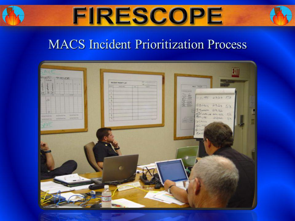 MACS Incident Prioritization Process