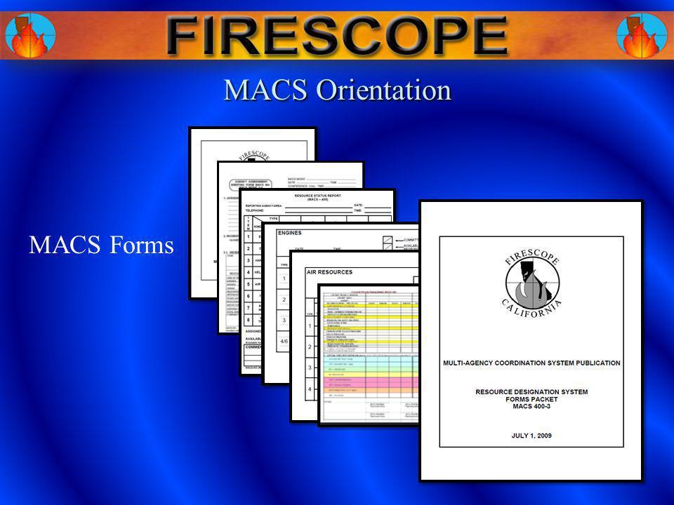 MACS Forms MACS Orientation