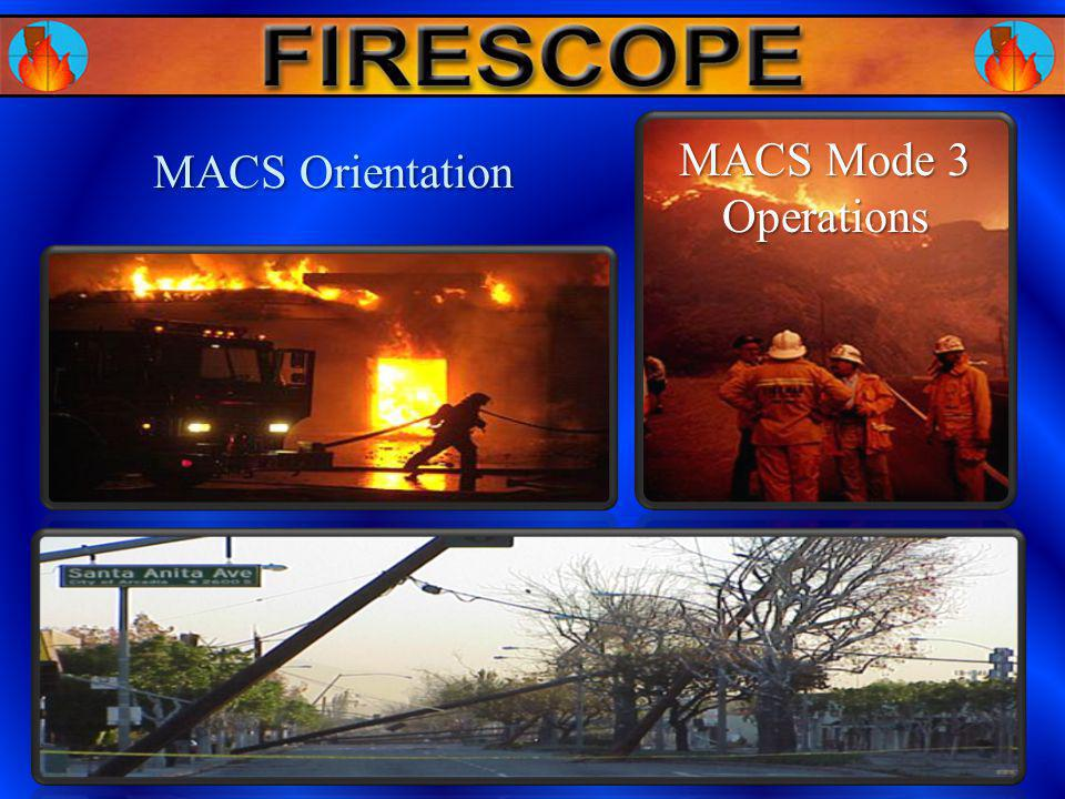 MACS Orientation MACS Mode 3 Operations