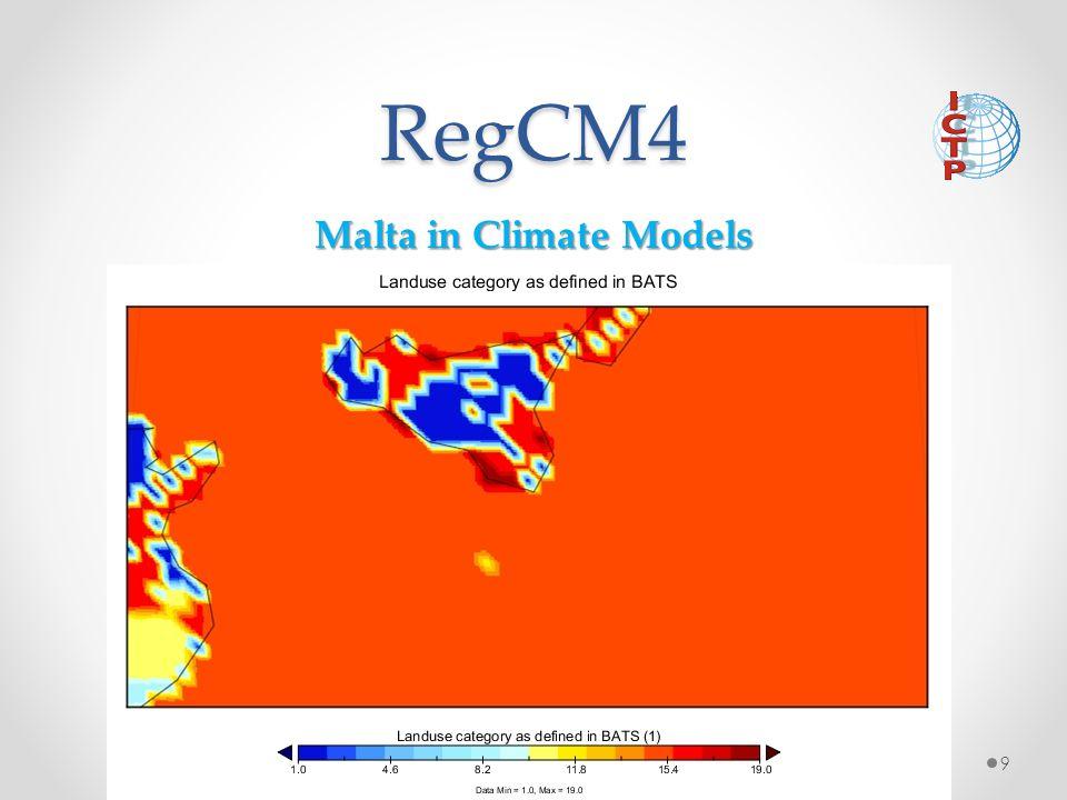RegCM4 Malta in Climate Models 9