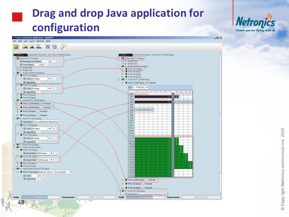 48 Drag and drop Java application for configuration