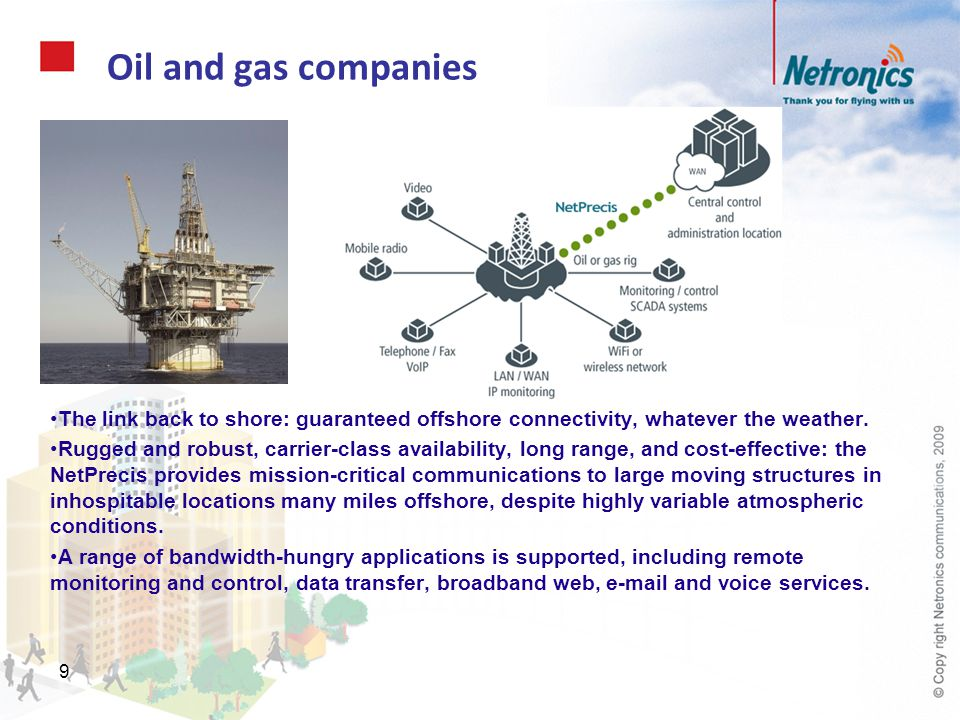 80 To conclude NetPrecis provides a wireless point-to- point link distance-engineered for demanding applications.