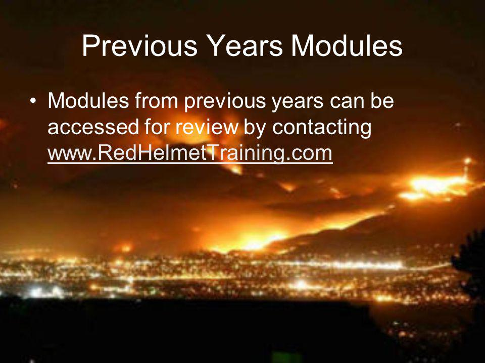 Previous Years Modules Modules from previous years can be accessed for review by contacting www.RedHelmetTraining.com www.RedHelmetTraining.com