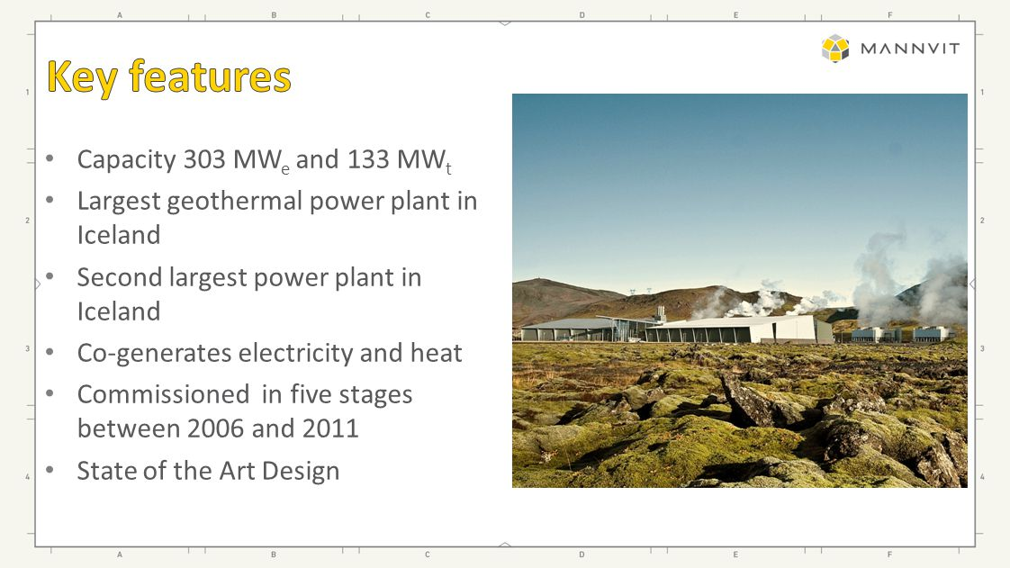 Geothermal electricity generation since 1969 Experience from operating 5 geothermal fields Development of Icelandic key components in the steam gathering system Experience in producing electricity and hot water for district heating in a combined power plant