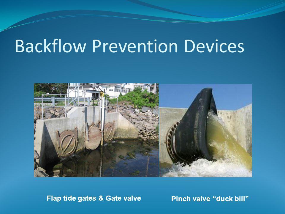 Backflow Prevention Devices Flap tide gates & Gate valve Pinch valve duck bill
