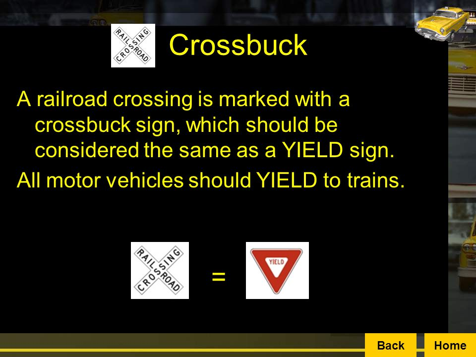 A crossbuck is the most common warning sign at a railroad crossing.