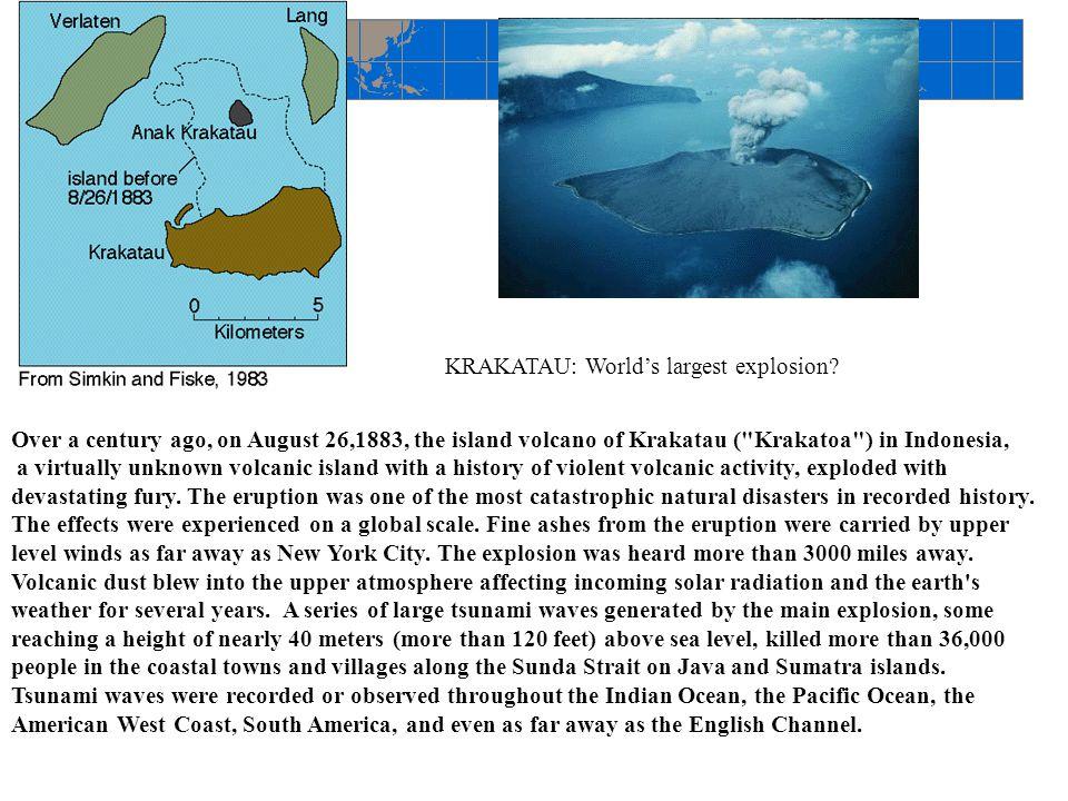 Over a century ago, on August 26,1883, the island volcano of Krakatau (