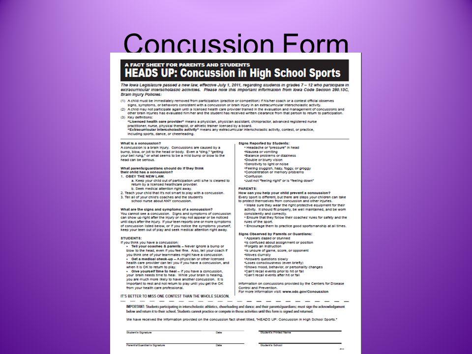 Concussion Form