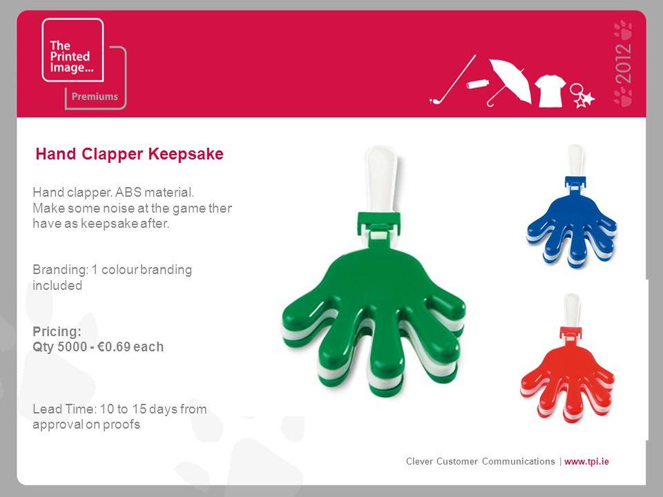 Hand Clapper Keepsake Hand clapper. ABS material.