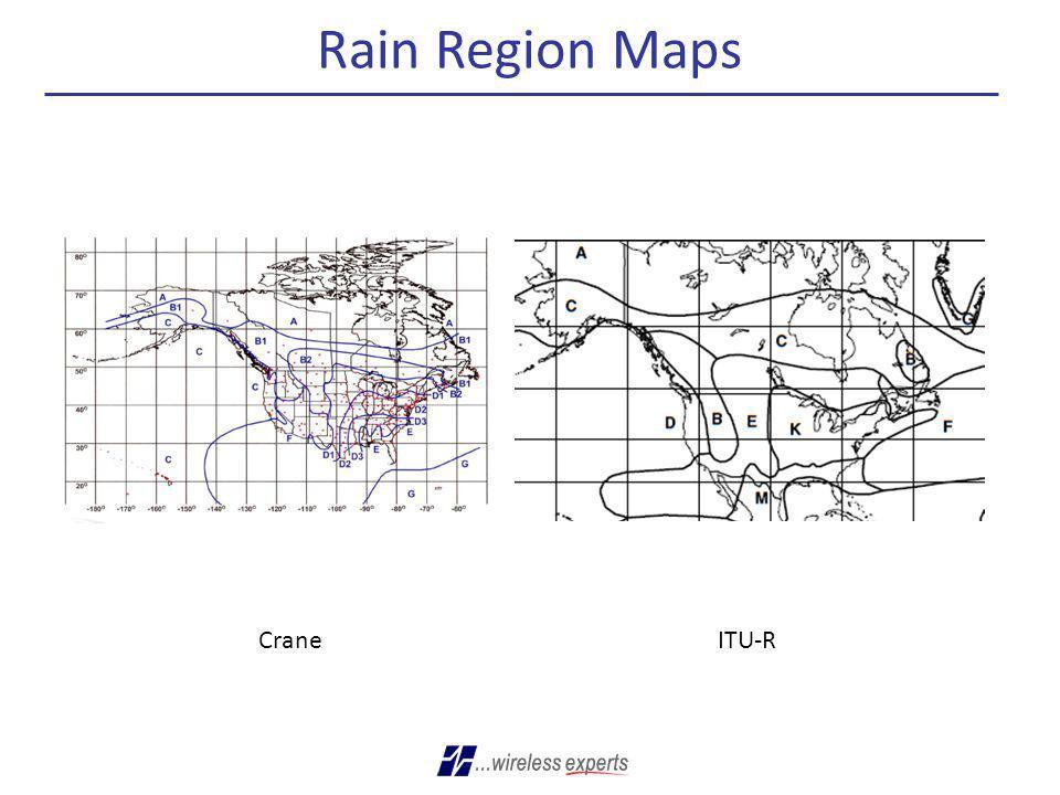 Rain Region Maps CraneITU-R