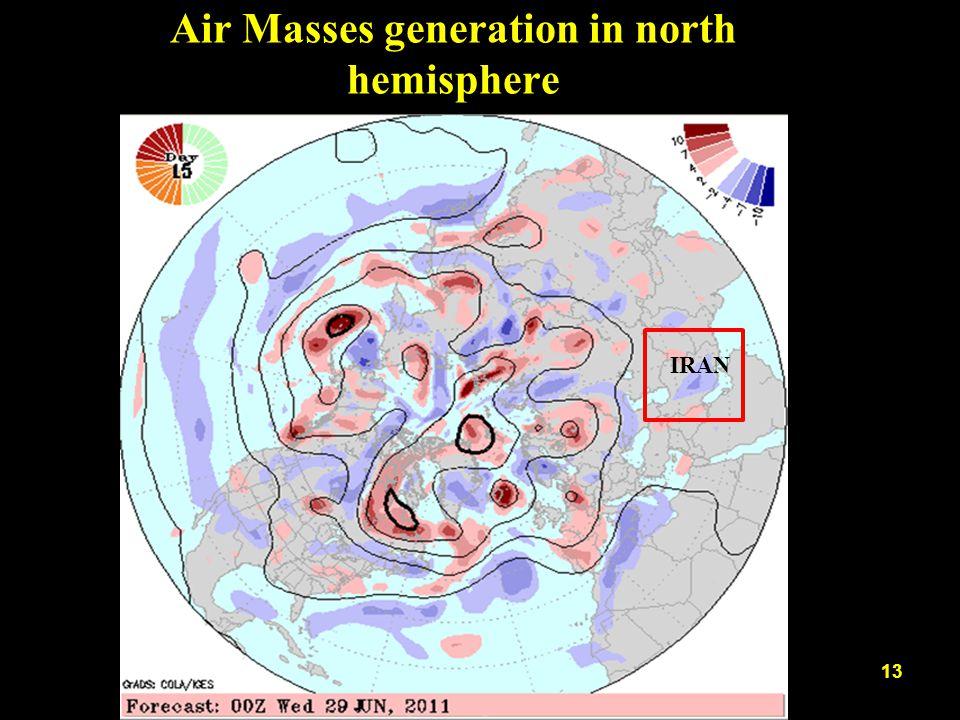 Air Masses generation in north hemisphere 13 IRAN