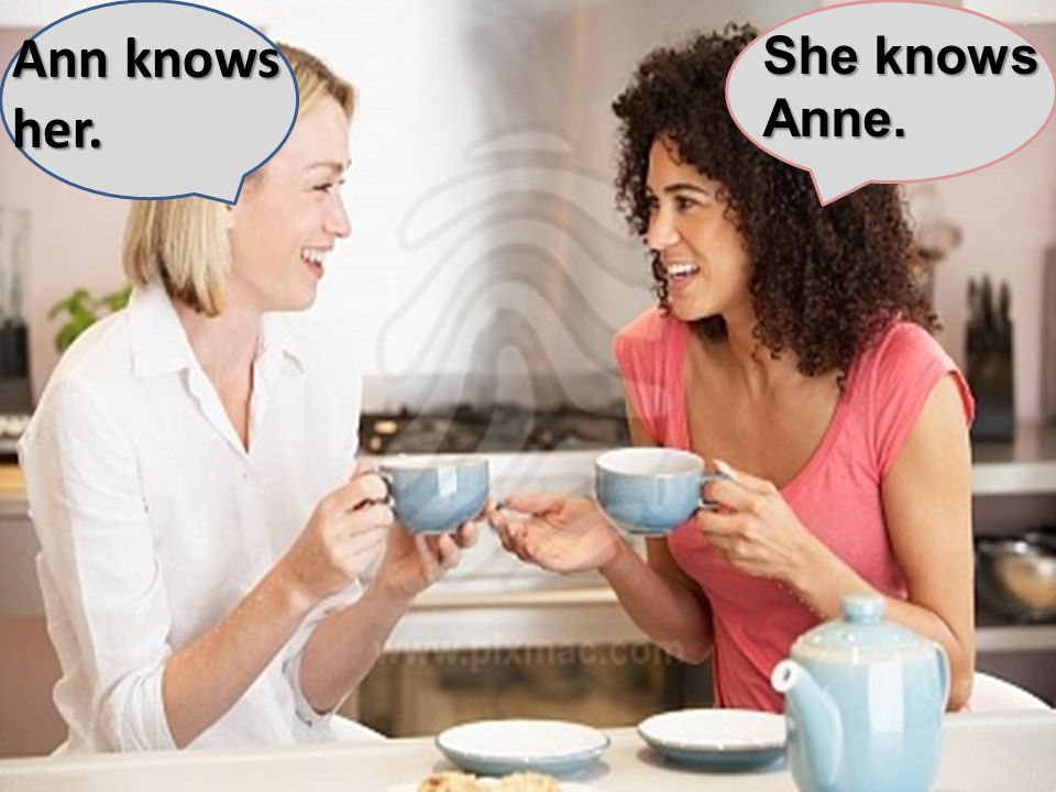 She knows Anne. Ann knows her.