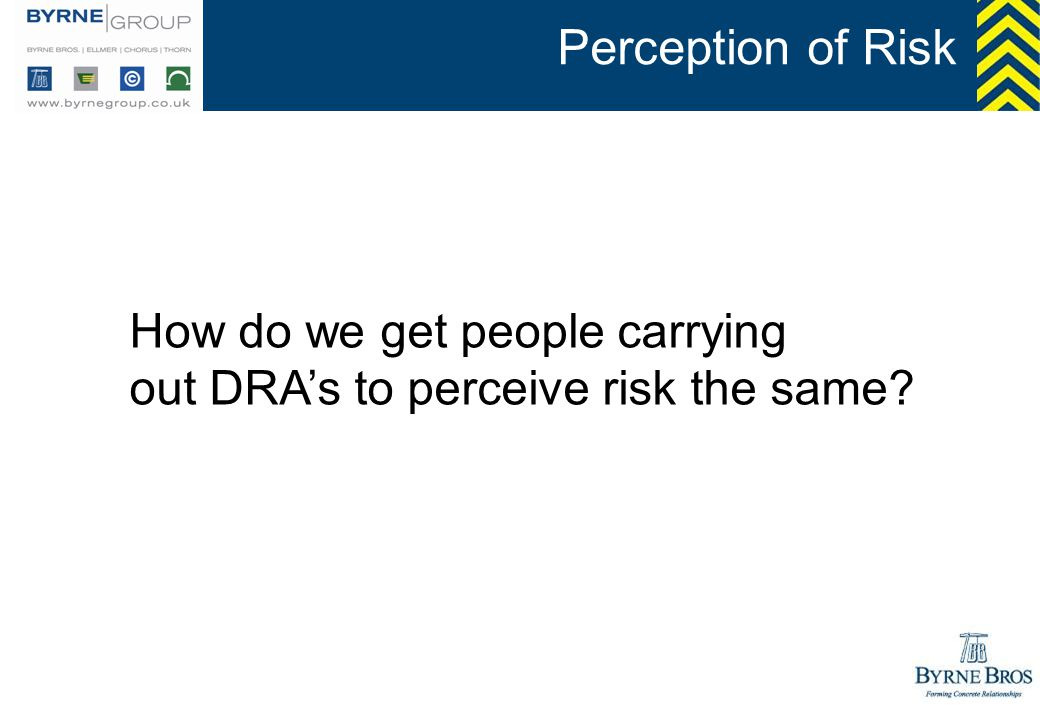 How do we get people carrying out DRAs to perceive risk the same?